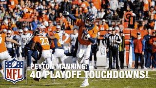 All 40 Peyton Manning Playoff TD Passes! | NFL