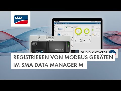 Registrieren von Modbus Geräten im SMA Data Manager M