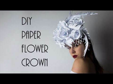 DIY Paper Headpiece, Flower Crown @irenerudnykphoto Cheap and Easy