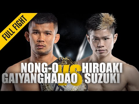 Nong-O vs. Hiroaki Suzuki | ONE: Full Fight | Muay Thai Domination | May 2019
