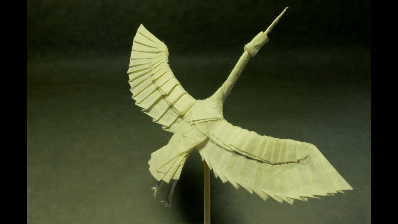 Simple Origami Flying Crane Diagram Fisher Dvc Wiring Youtube