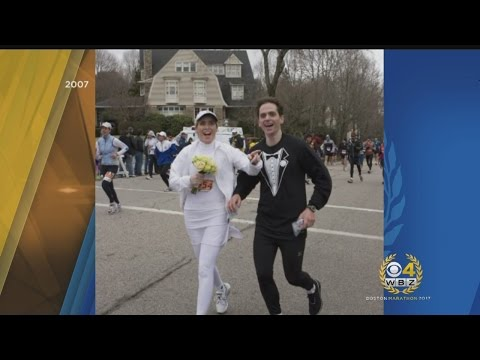 Couple Celebrates 10th Anniversary Of Getting Married During Boston Marathon