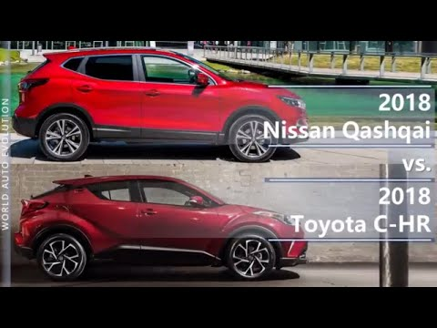 2018 Nissan Qashqai vs 2018 Toyota C-HR (technical comparison)