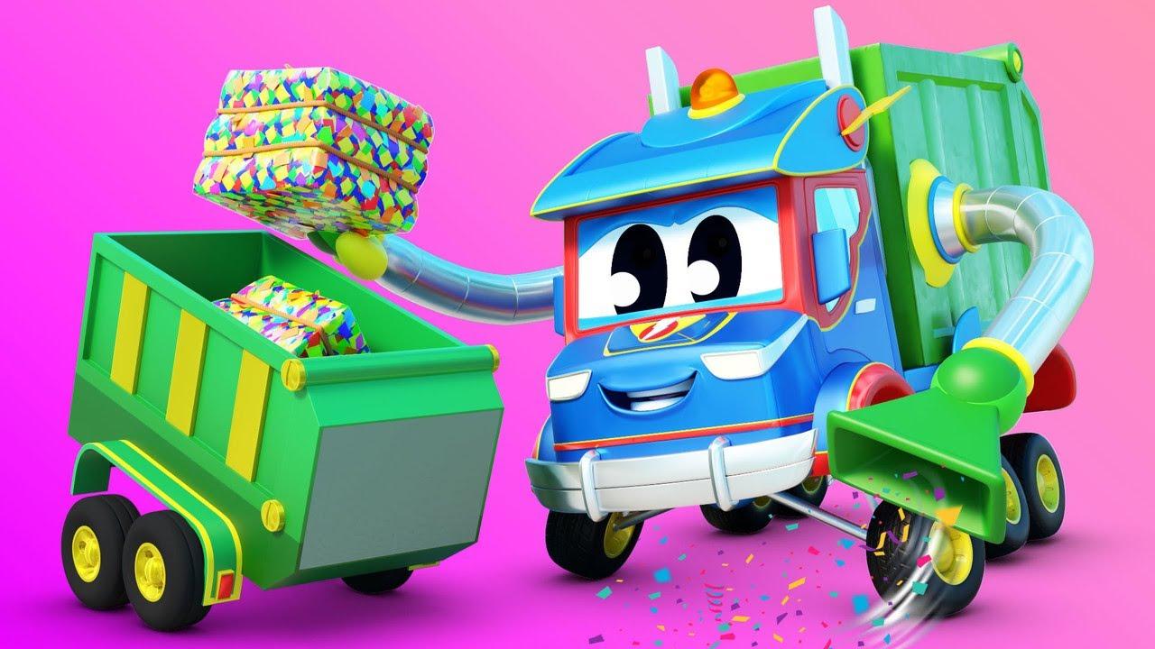 Super Caminhão salva a FAZENDA! - Cidade do Carro - Desenhos animados infantis