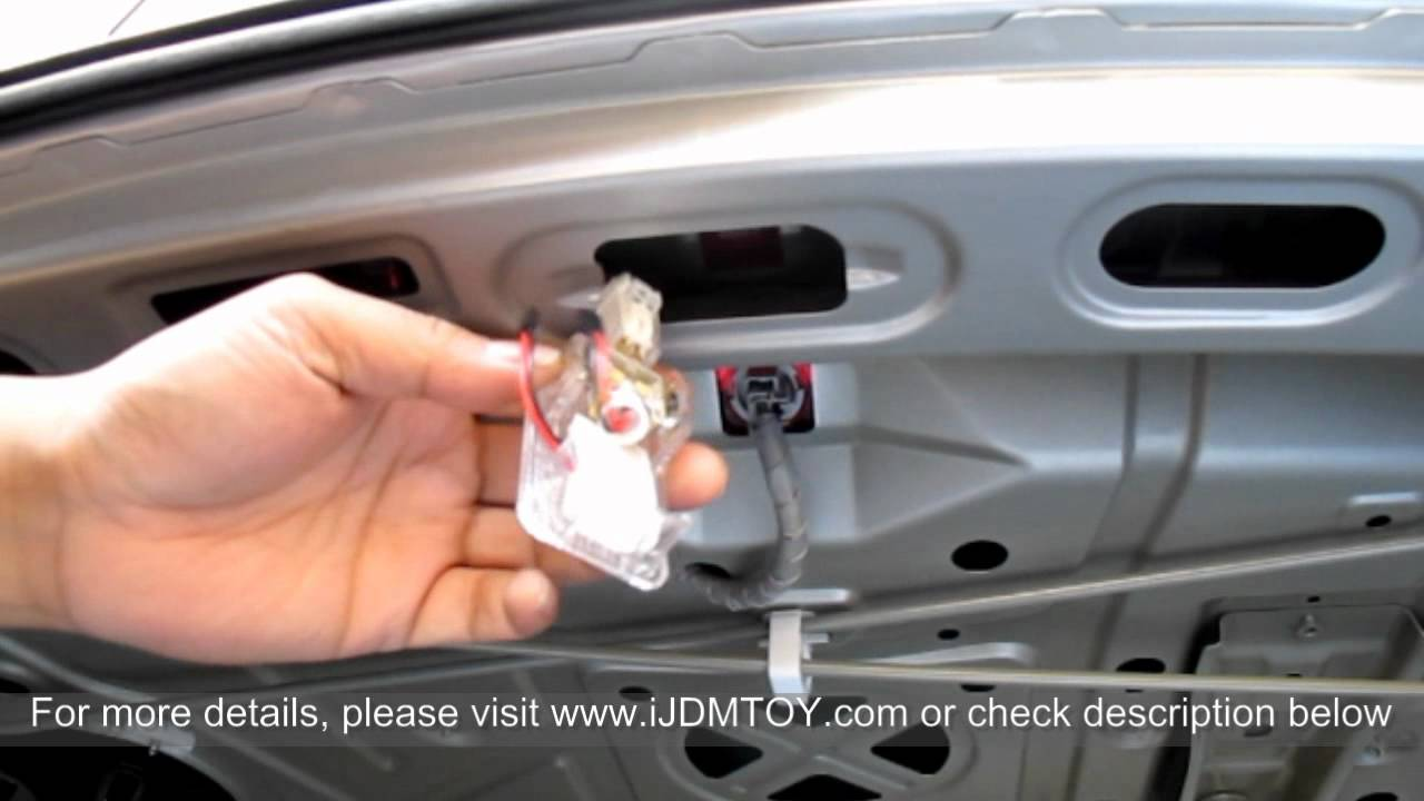 How to Install LED Panel Light for Car Trunk Cargo Area Light ...