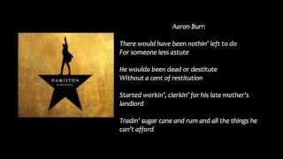 Alexander Hamilton Lyrics