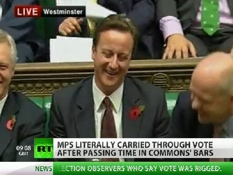 British MPs drunk on power or just drunk?