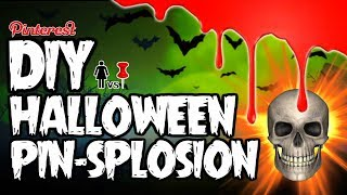 🎃 DIY Halloween PIN-SPLOSION! PIZZA SKULLS, FINGER CANDLES, AND BEARS! OH MY