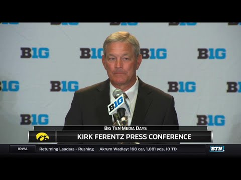 Iowa's Kirk Ferentz - 2017 Big Ten Football Media Day