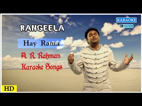 Hai Rama Karaoke Song | AR Rahman Karaoke Songs | Rangeela Movie Songs | Music Master