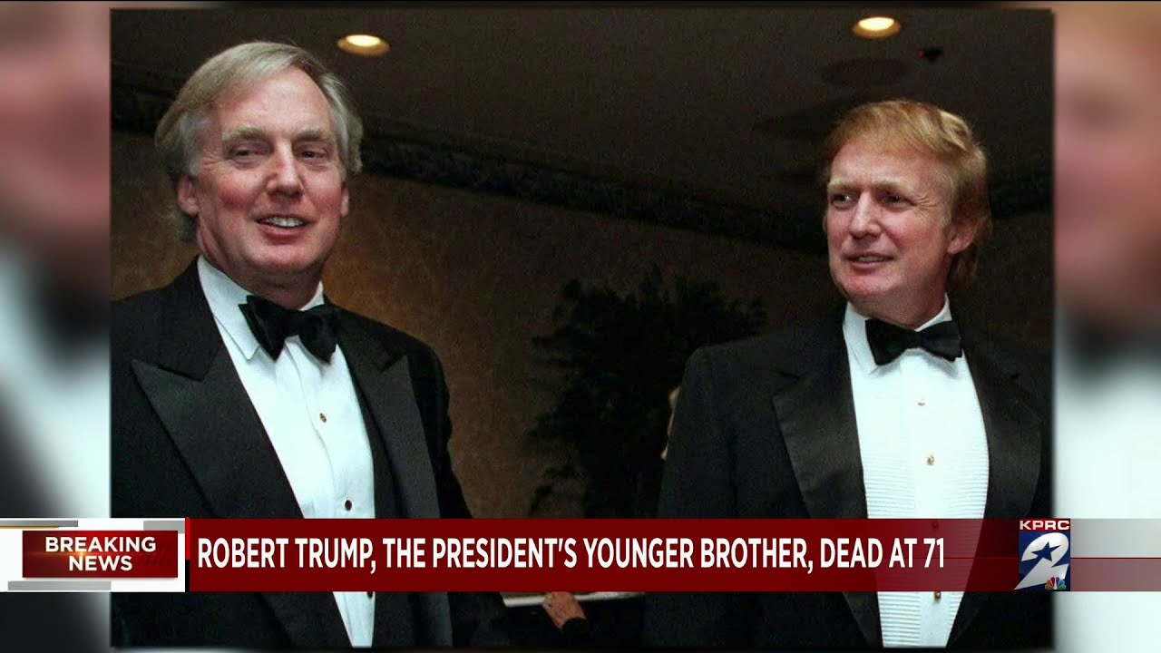 Robert Trump The President S Younger Brother Dead At 71 Youtube