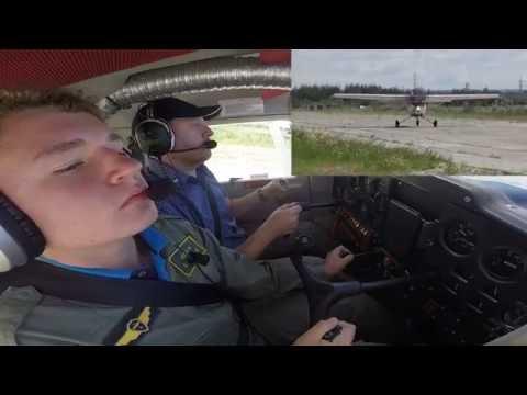 Инструктор Ваня Барсов и Павел Манченко, Cessna 150