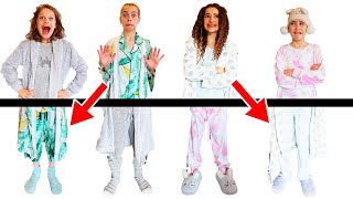 PUT US BACK TOGETHER! our PAJAMAS ARE ALL MIXED UP Challenge By The Norris Nuts