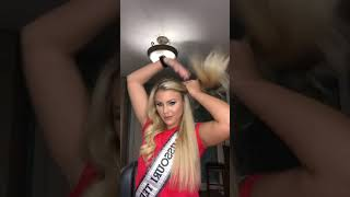 Eye for Design Hair Tape in Extensions with 2018 Miss MO Teen USA Chloe Barlett