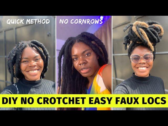 DIY detailed FAUX LOCs Tutorial| Wrapping Method | No Crochet| Beginner Friendly |4c freeform Locs