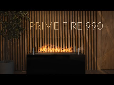 Prime Fire 990+ Automatic Ehanol Fireplace with Remote Control (Ethanol Vapour Technology)