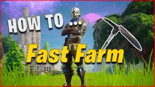 [PATCHED] HOW FAST FARM? - Tap 2x faster with a pickaxe - FORTNITE BATTLE ROYALE