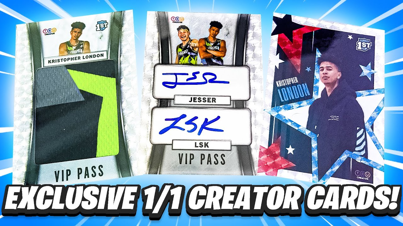 Download EXCLUSIVE 1 of 1 Cards for CREATORS ONLY! TruCreator INSANE Box!