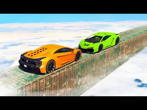 IMPOSSIBLE MILE HIGH SKY DERBY! (GTA 5 Minigames)