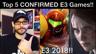 E3 2018 - Top 5 CONFIRMED Games for E3! | Ro2R