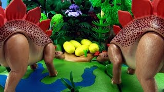 Stegosaurus Song - Dinosaur song for kids - 5 Stegosaurus eggs hatching - Playmobil Dinos