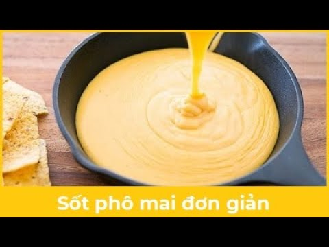 Làm sốt phô mai đơn giản từ sữa tươi và phô mai con bò cười | Làm bánh không khó 8.mp4