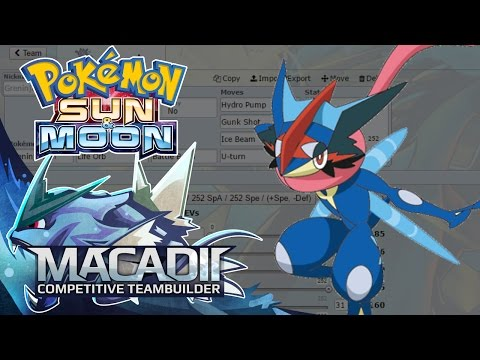 Ash-Greninja Sun And Moon Team Builder! - Pokemon Showdown OU Team Building W. Macadii (Smogon OU)