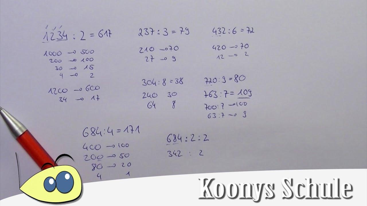 Wie dividiert man Zahlen im Kopf? Kopfrechnen, Tipps und Tricks ...