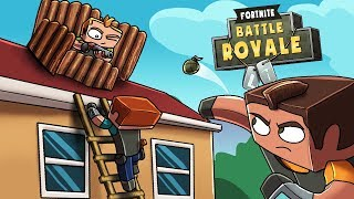 Minecraft Fortnite - HOUSE FORTRESS INVADED! (Fortnite Battle Royale)