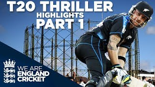 T20 Thriller Goes To Last Ball: England v New Zealand 2013 - Highlights: Part 1