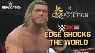 WWE Replication: Edge Wins His First WWE Championship | WWE 2K16