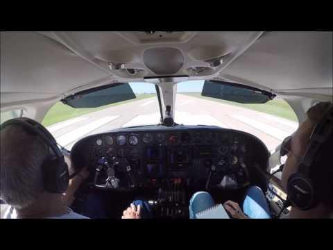 Cessna 414A Check Flight