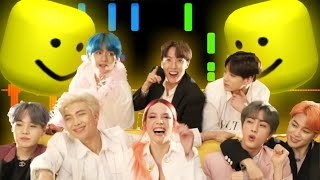Boy With Luv - BTS ft. Halsey But It's Roblox Death Sound!!