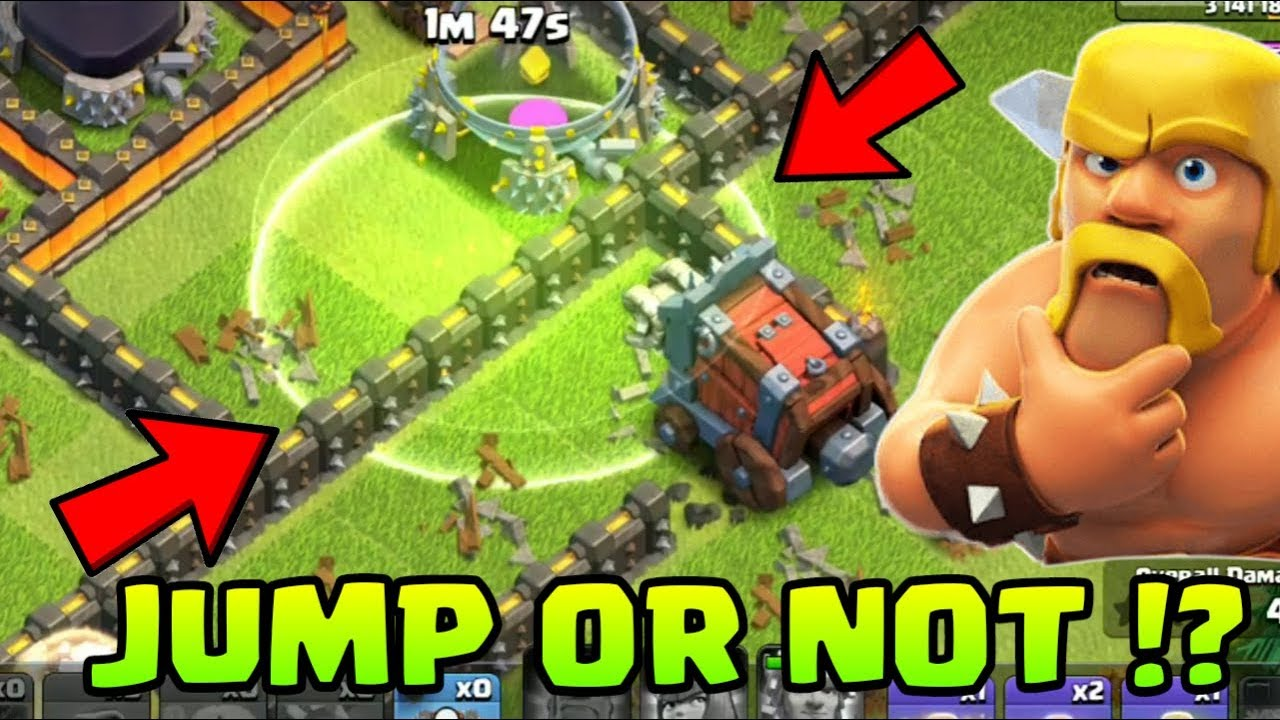 Did Seige Machine Jump from Jump spell ? Jumpspell + Seige machine ! Clash of clans !