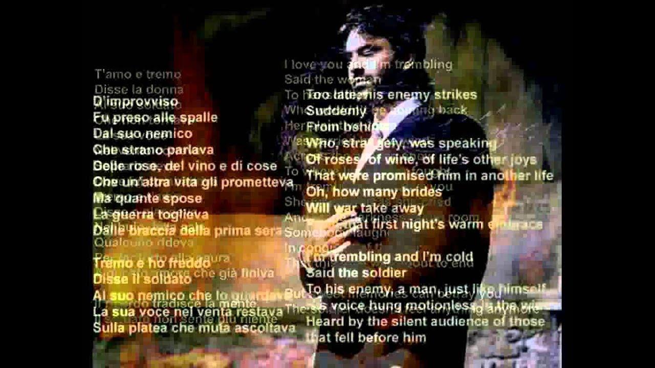 Andrea Bocelli - Tremo E T'amo (with lyrics) - YouTube