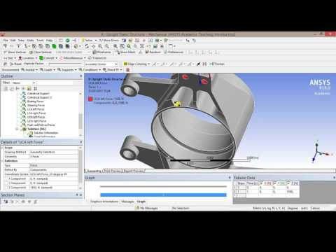 Fsae upright - static structural analysis in Ansys Workbench