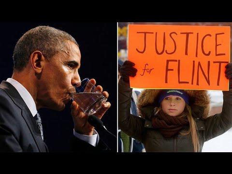 Obama addresses Flint water crisis in Michigan