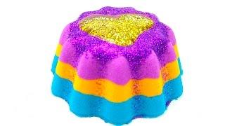 Кинетический песок, пластилин для детей. Делаем торт из песка. Игрушкин ТВ
