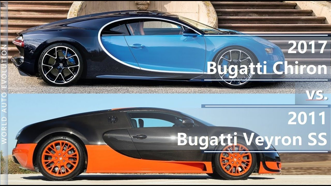 2017 bugatti chiron vs bugatti veyron ss (technical comparison