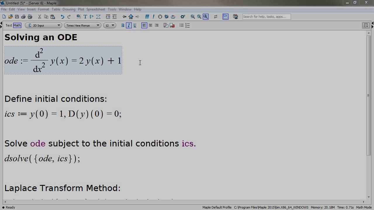 Differential Equations - Maple Features - Maplesoft