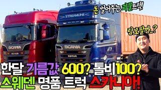 유로트럭 실사판?? 한달 유지비만 700만원 스웨덴의 명품 트럭 스카니아! 대중들은 몰랐던 1%트럭커 밀착취재