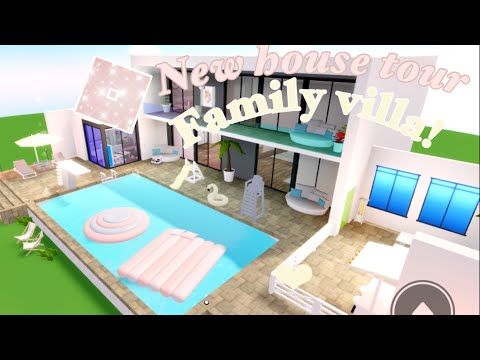 Family Villa House Tour |club Roblox Roleplay!