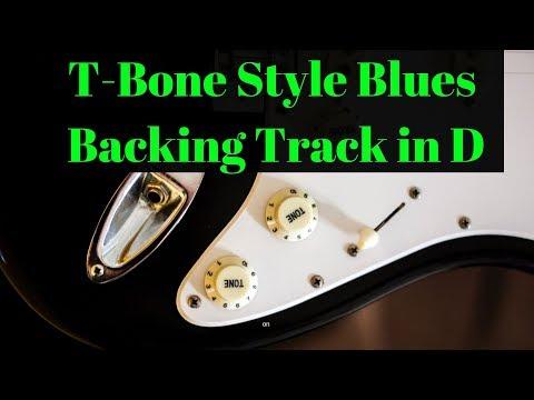 T-Bone Style Blues Backing Track in D (110 BPM)