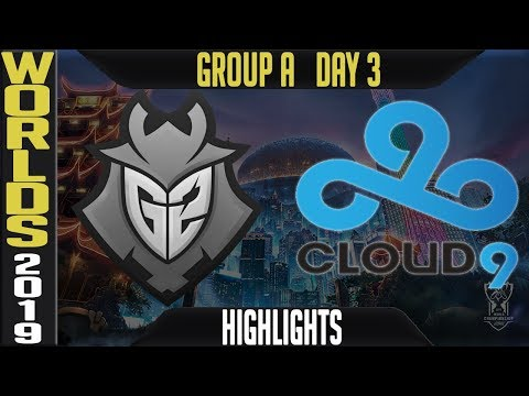G2 vs C9 Highlights Game 1 | Worlds 2019 Group A Day 3 | G2 Esports vs Cloud9 - EU vs NA