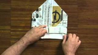 How to fold a newspaper hat