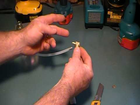 How to remove the plastic tubing on a barbed fitting on a pump switch.