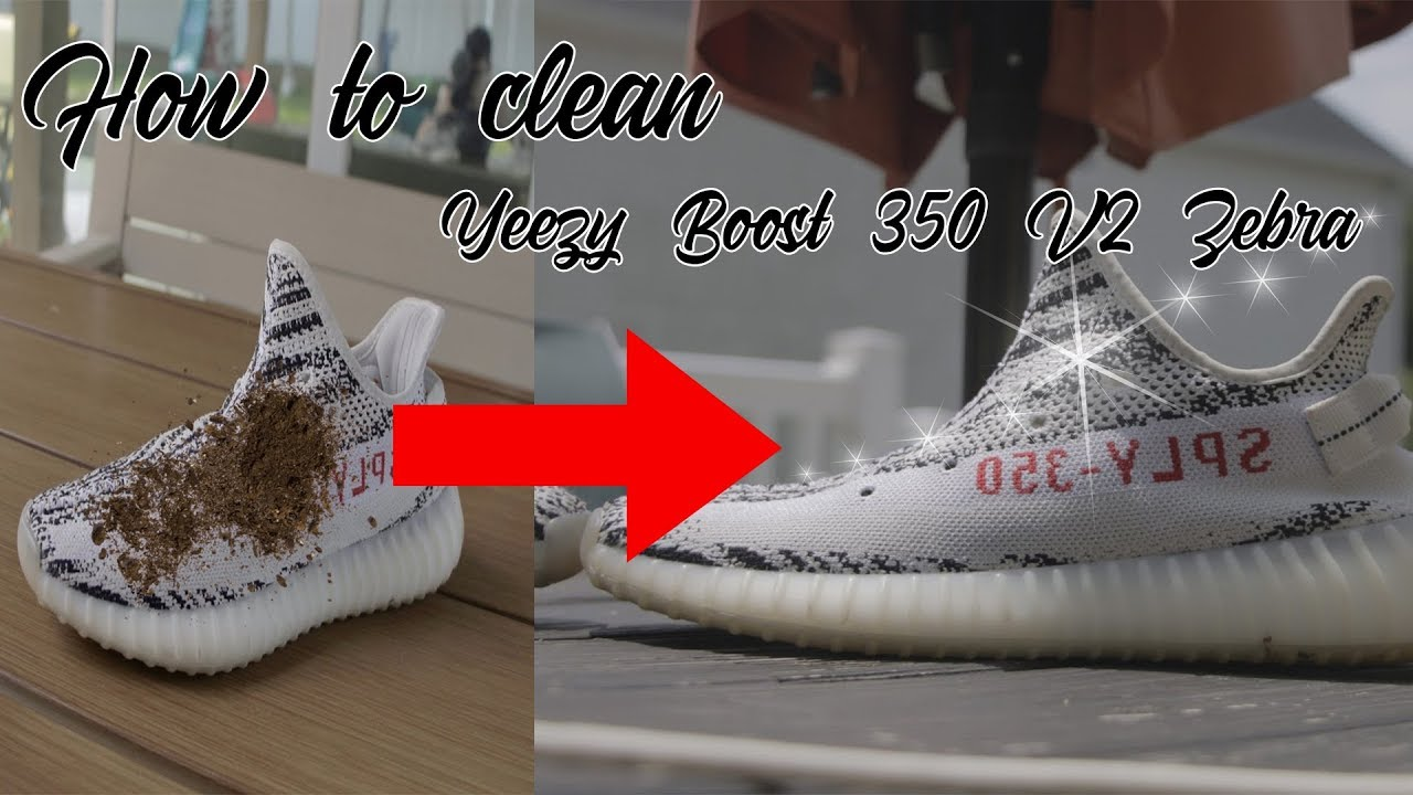 How to clean Yeezy Boost 350 V2 Zebra