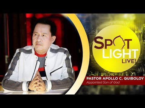 SPOTLIGHT by Pastor Apollo C. Quiboloy • December 16, 2018 from YouTube · Duration:  1 hour 46 minutes 15 seconds
