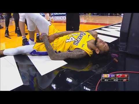 Brandon Ingram almost injured against Miami heat