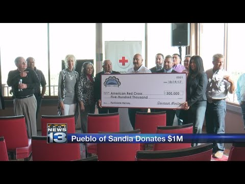 Sandia Pueblo donates $1M to American Red Cross Disaster Relief